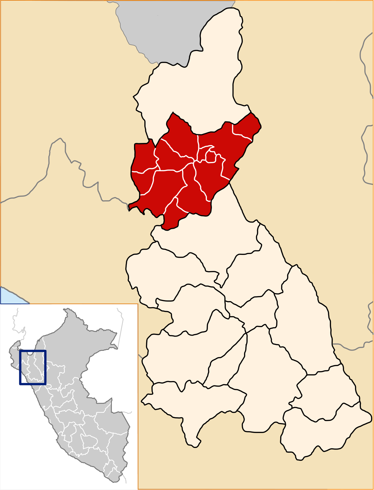 Carte province Jaén perou (source wikipedia)
